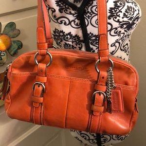 Coach leather shoulder bag, good condition